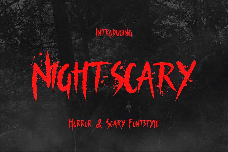 Nightscary Font
