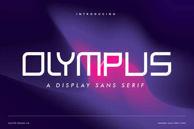 Olympus Futuristic Font