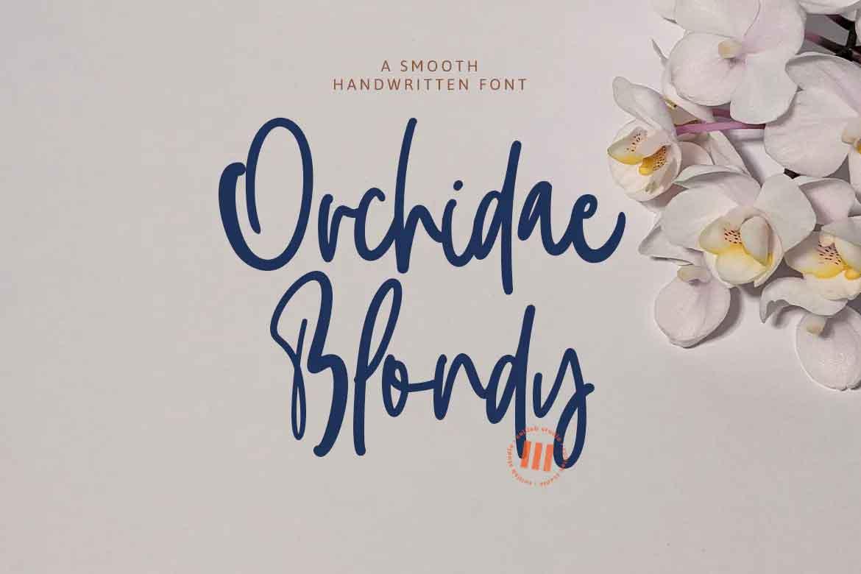 Orchidae Blondy Font