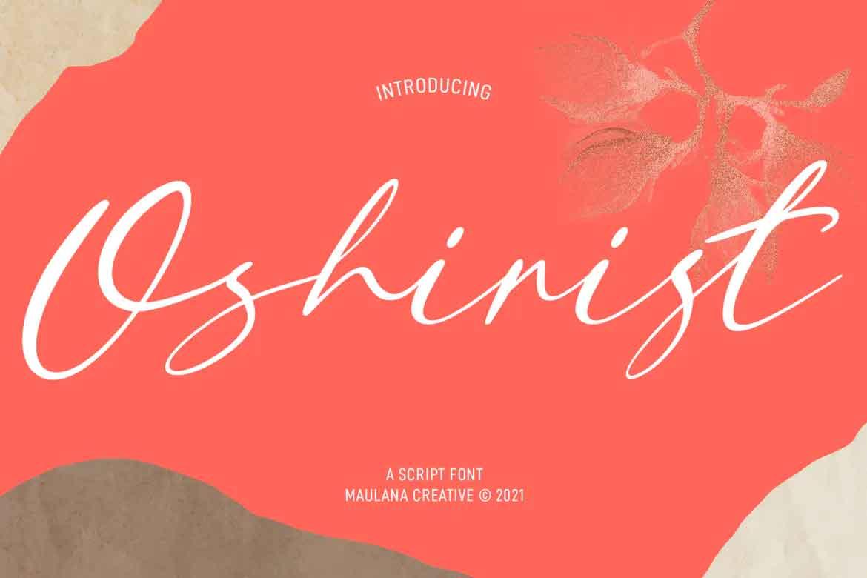 Oshirist Script Font