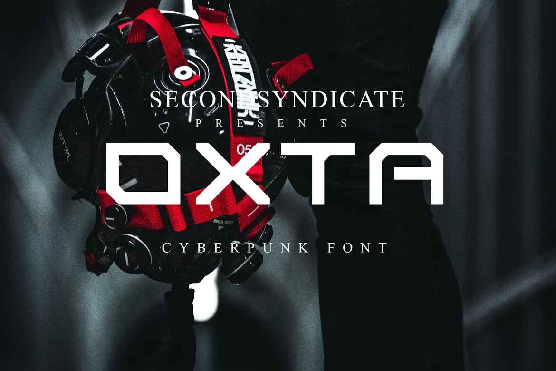 Oxta Cyberpunk Font