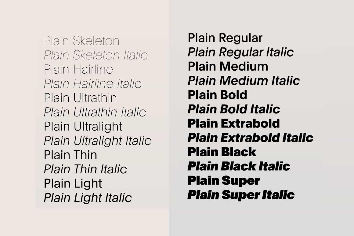 Plain Font Family