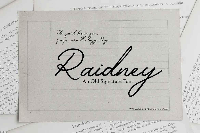 Raidney Font