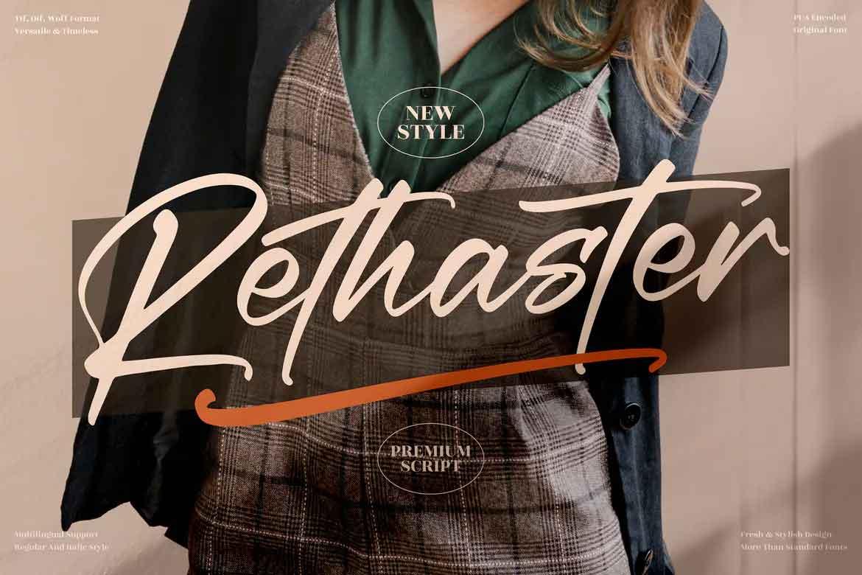 Rethaster Font
