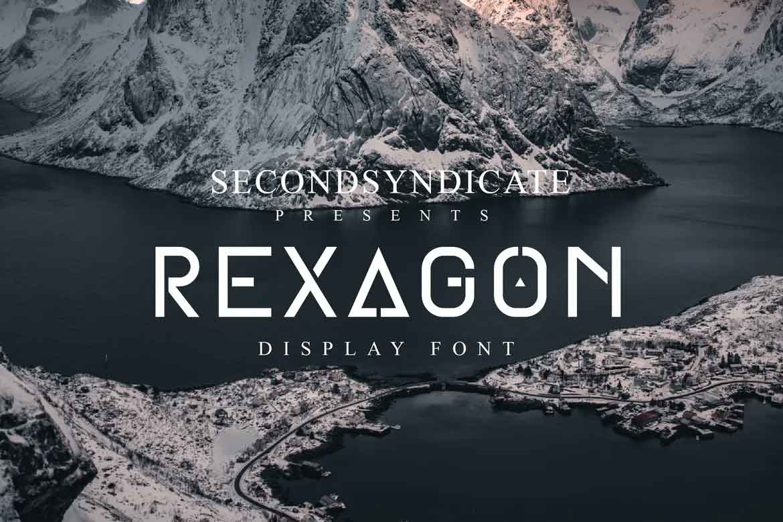 Rexagon Display Font