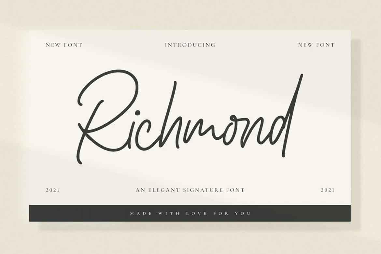 Richmond Signature Font