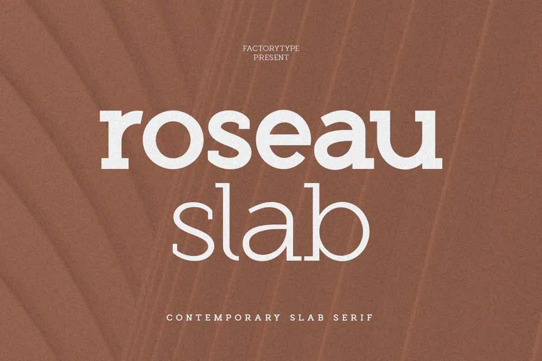 Roseau Slab Font