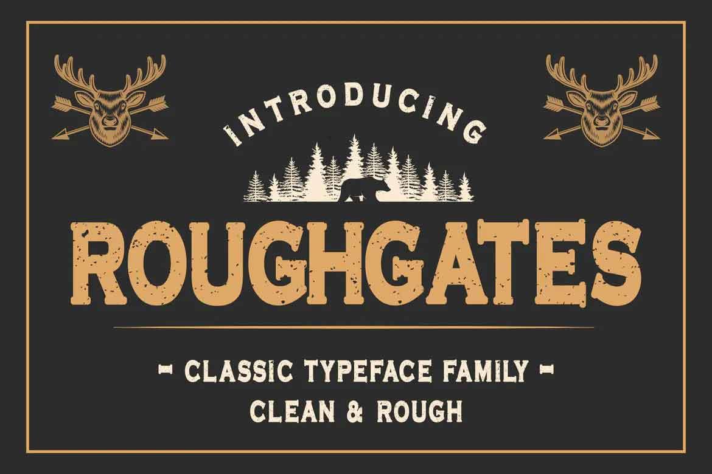 Roughgates Font