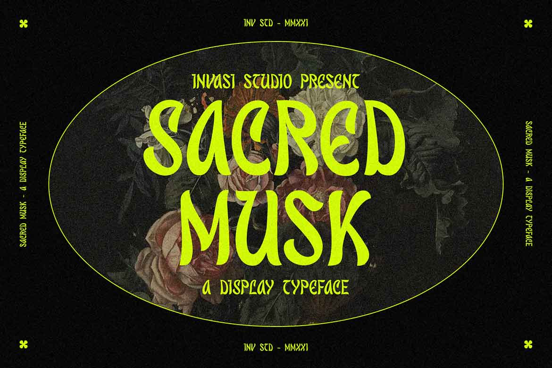 Sacred Musk Display Font