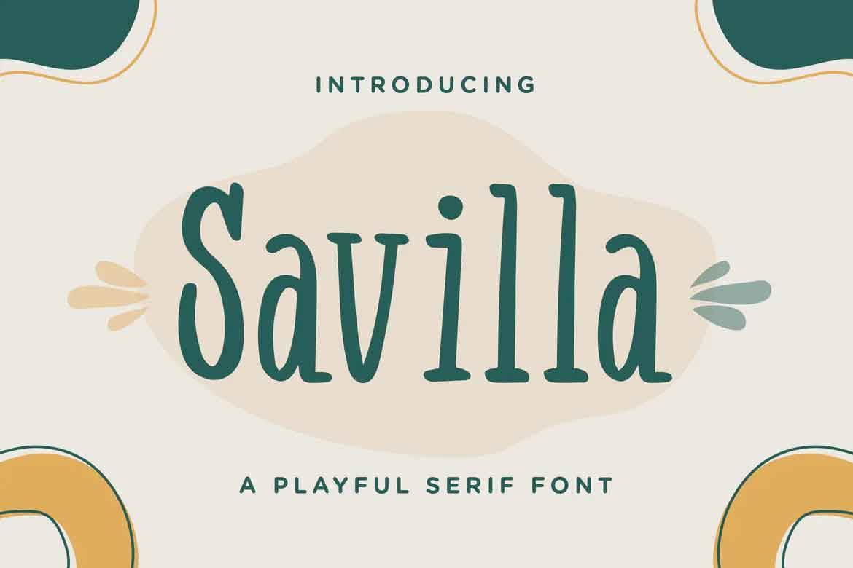 Savilla Font