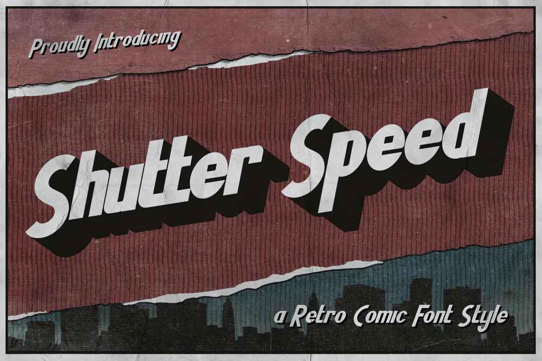 Shutter Speed A Retro Comic Font