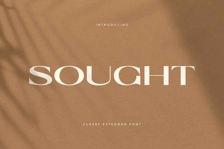 Sought Font