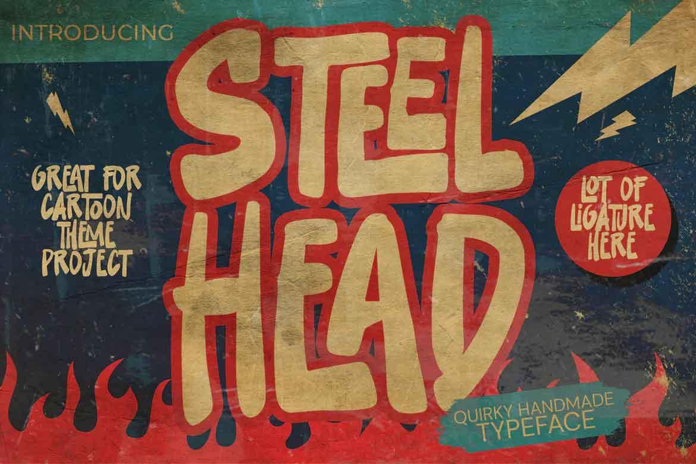 Steel Head Font