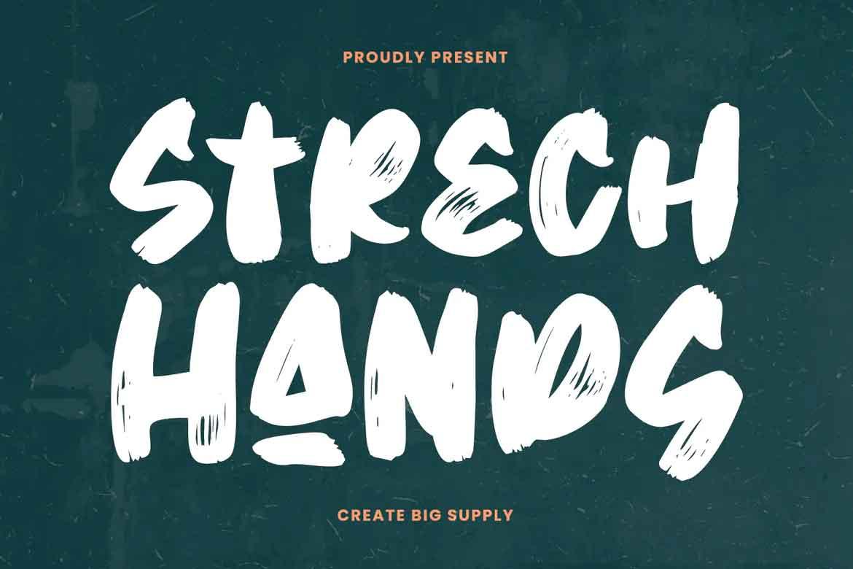 Strech Hands Font