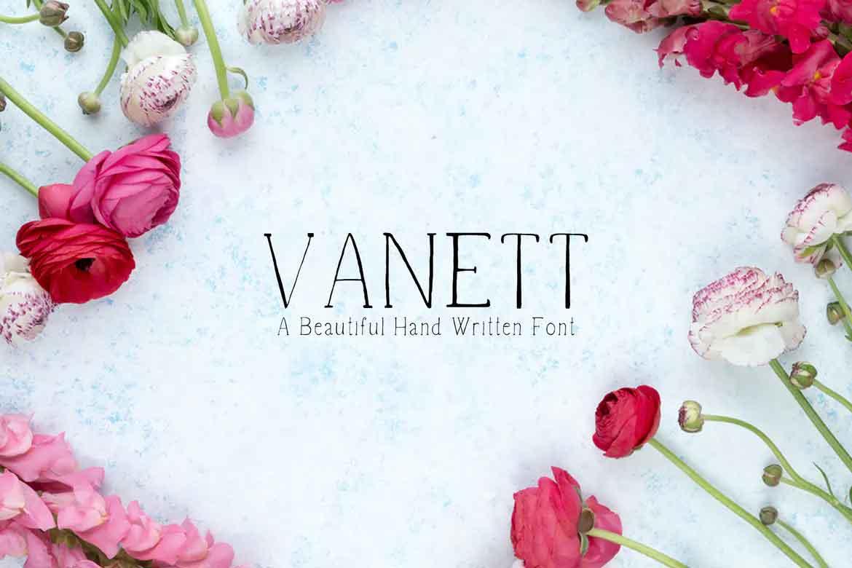 Vanett Handmade Font