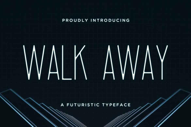 Walk Away Futuristic Font