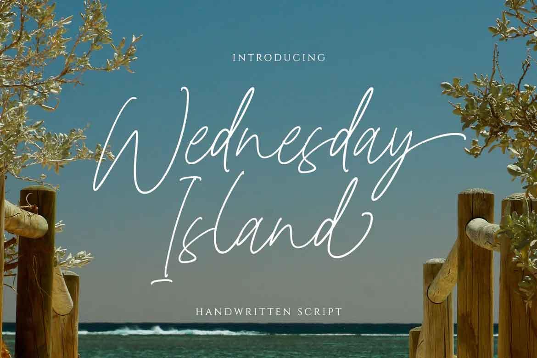 Wednesday Island Font
