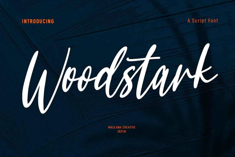 Woodstark Script Font