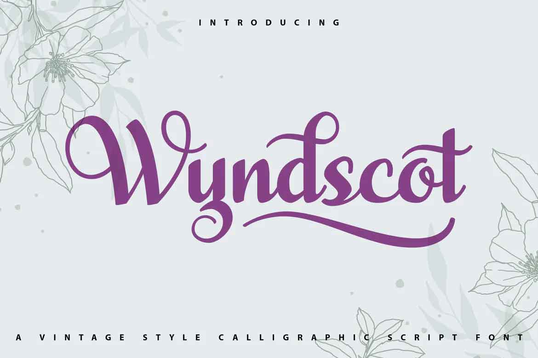 WyndScot Font