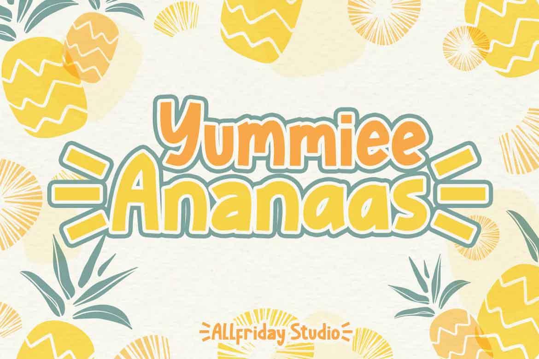 Yummiee Ananaas Font