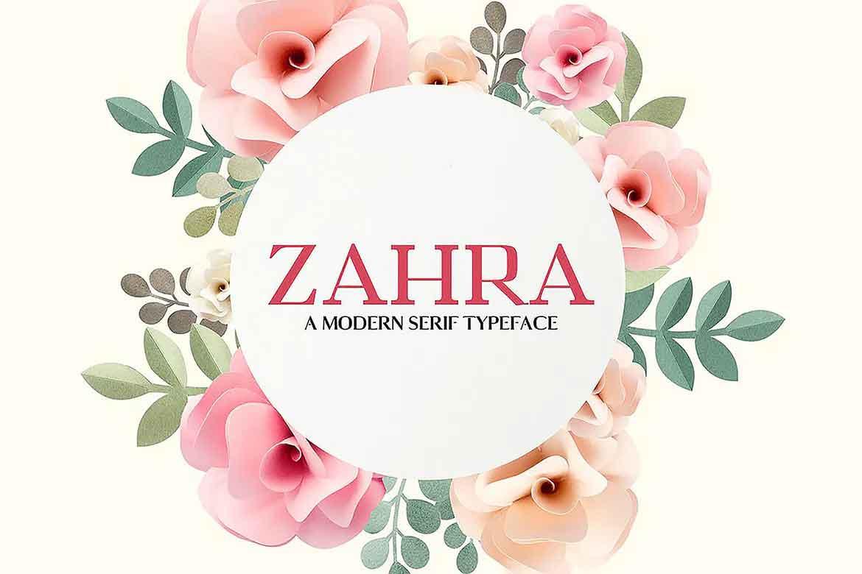 Zahra Family Font