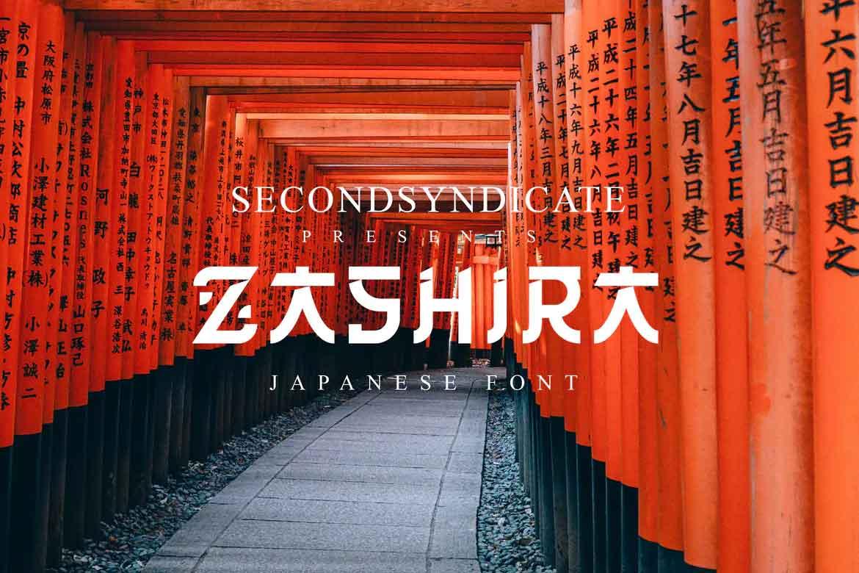Zashira Japanese Font