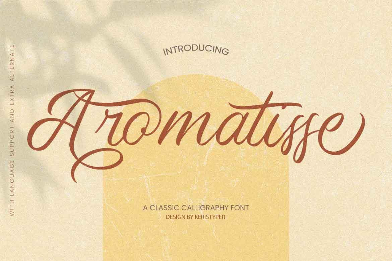 Aromatisse Font