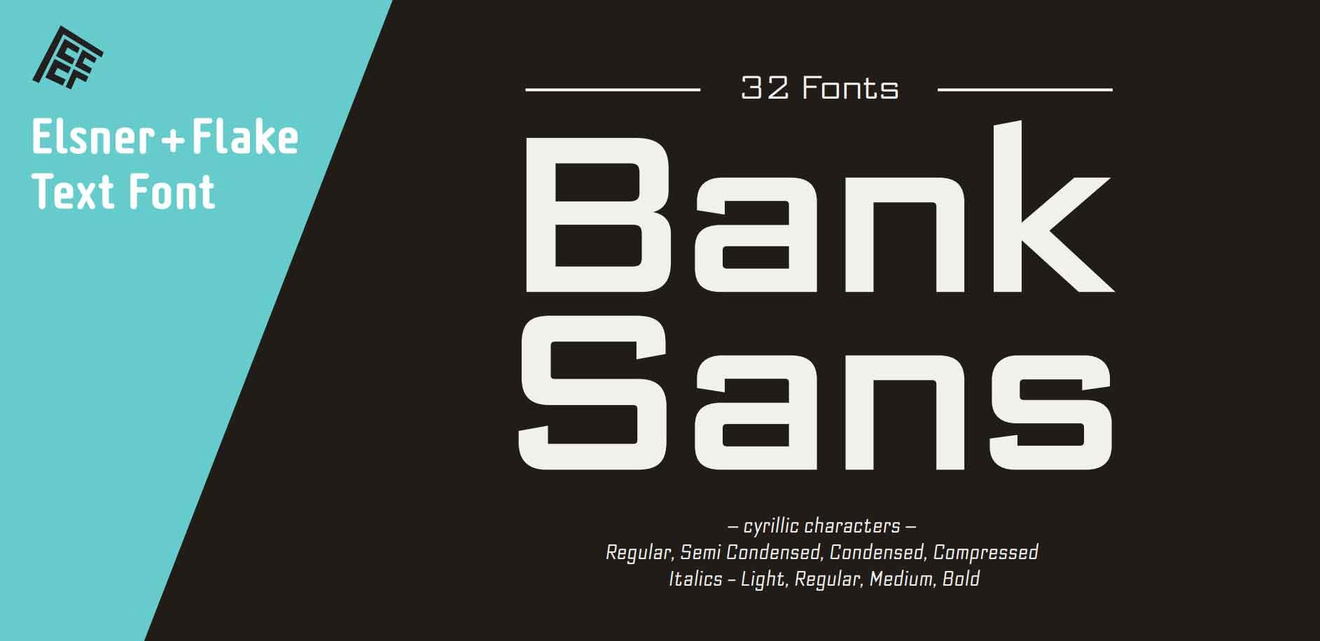 Bank Sans EF Font