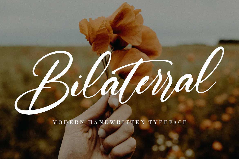 Bilaterral Font