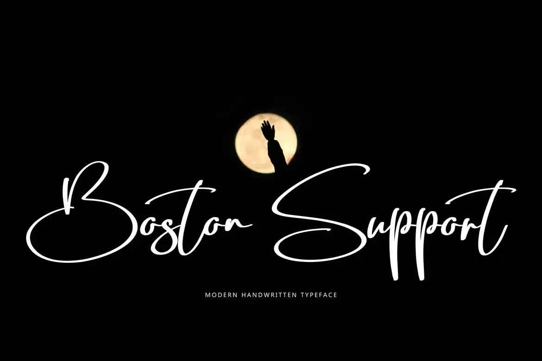 Boston Support Font