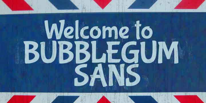 Bubblegum Sans Pro Font