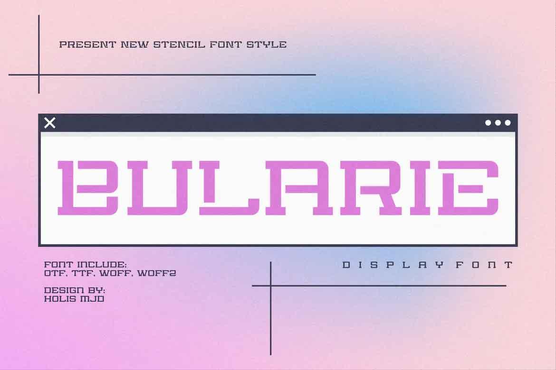 Bularie Font