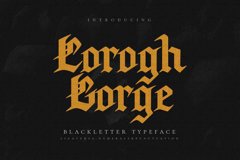 Corogh Gorge Font