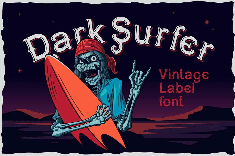 Dark Surfer Vintage Font