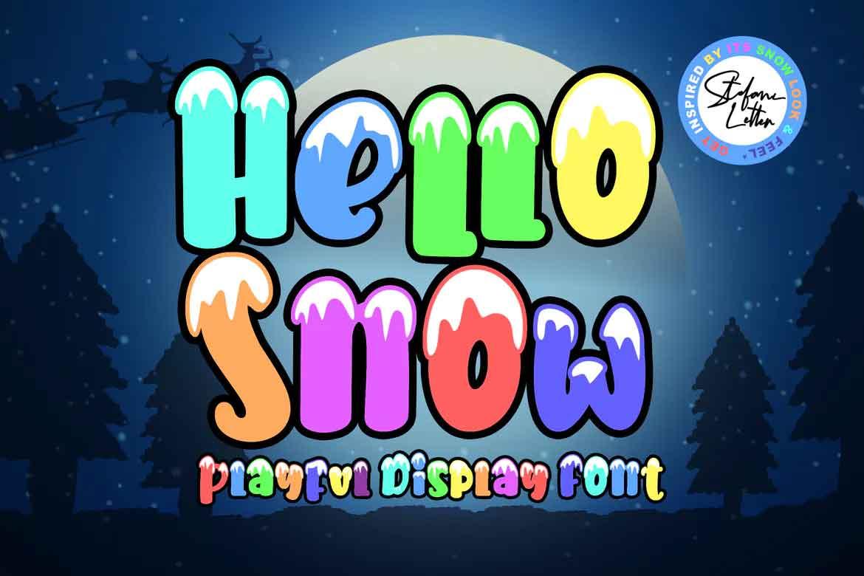 Hello Snow Font