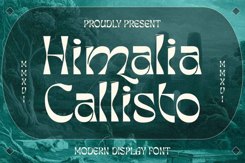 Himalia Callisto Font