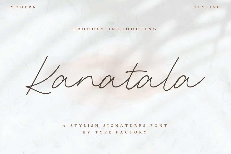 Kanatala Font