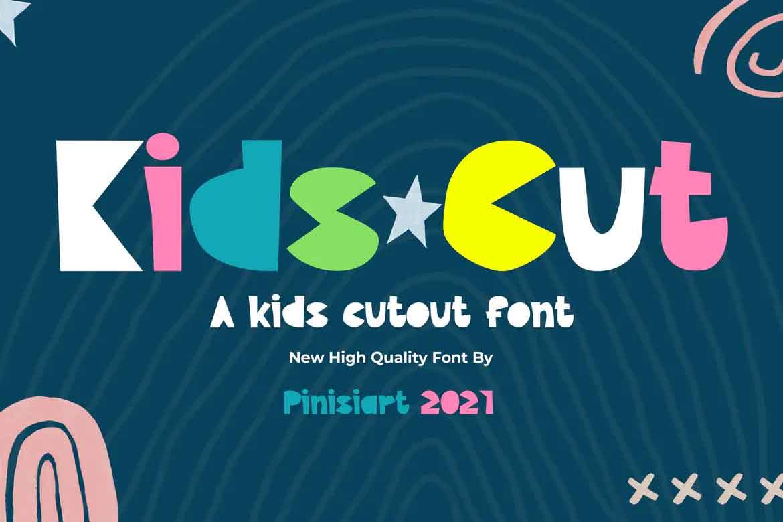 Kids Cut Font