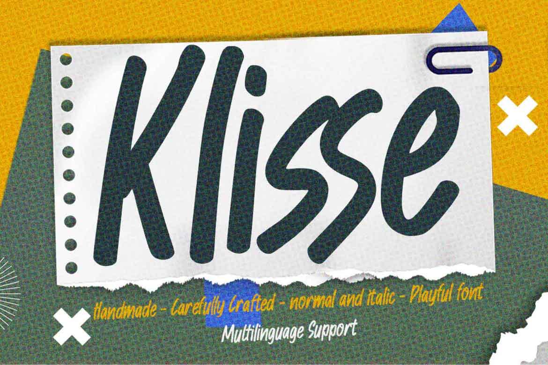 Klisse Font