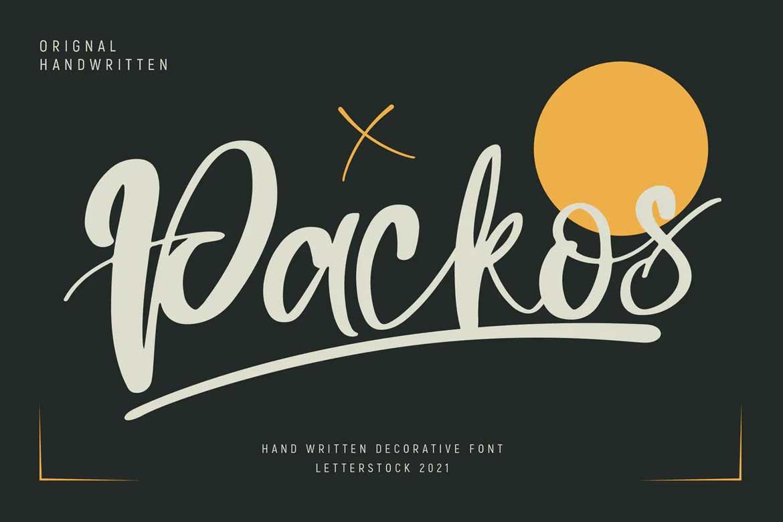 Packos Font