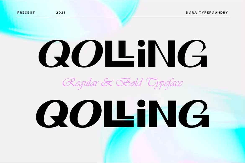 Qolling Font