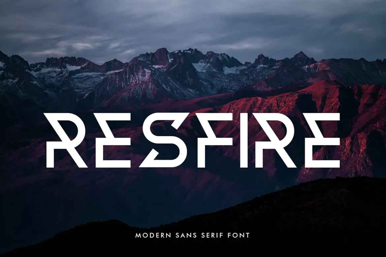 Resfire Font