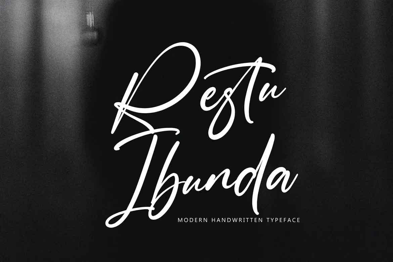 Restu Ibunda Font