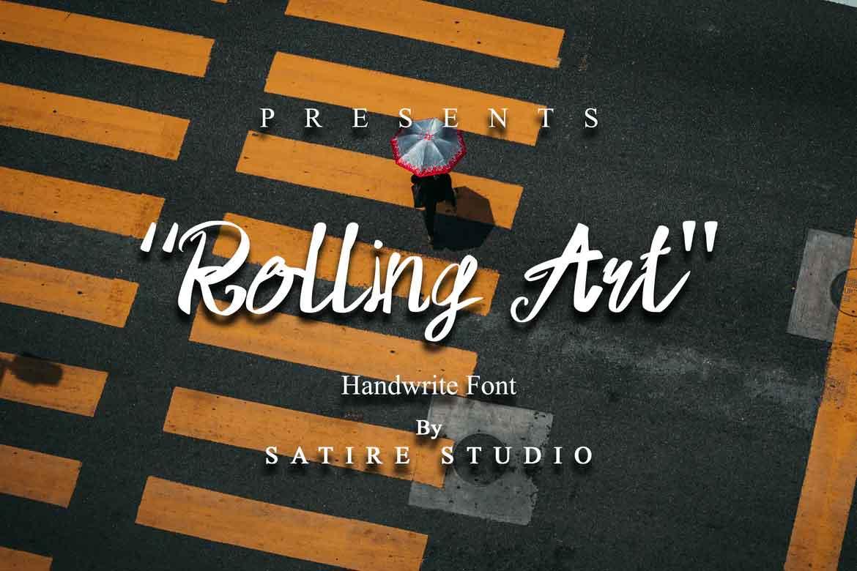 Rolling Art Font