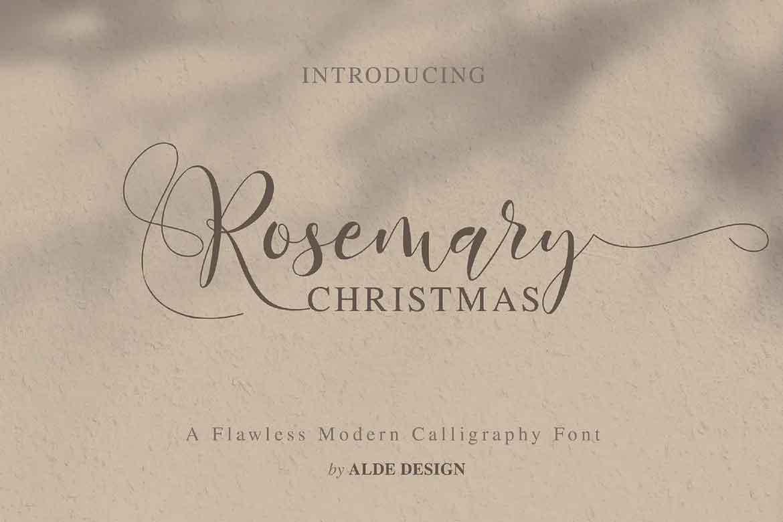 Rosemary Christmas Font