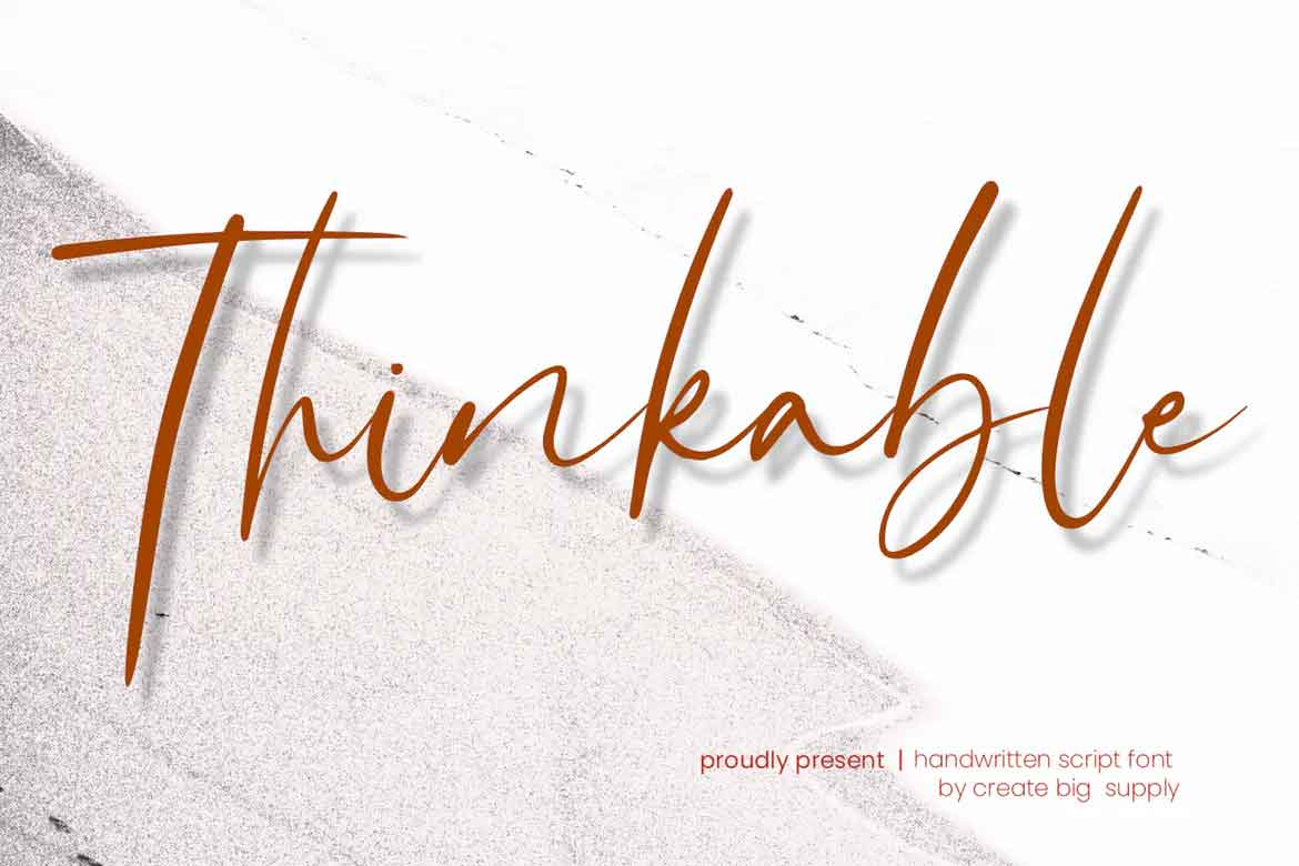 Thinkable Font