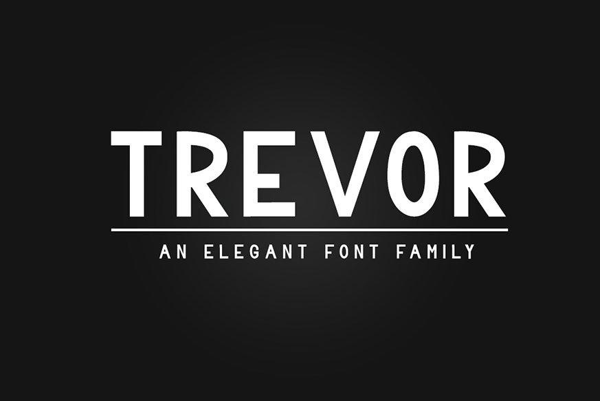 Trevor - Sans Serif Font Family