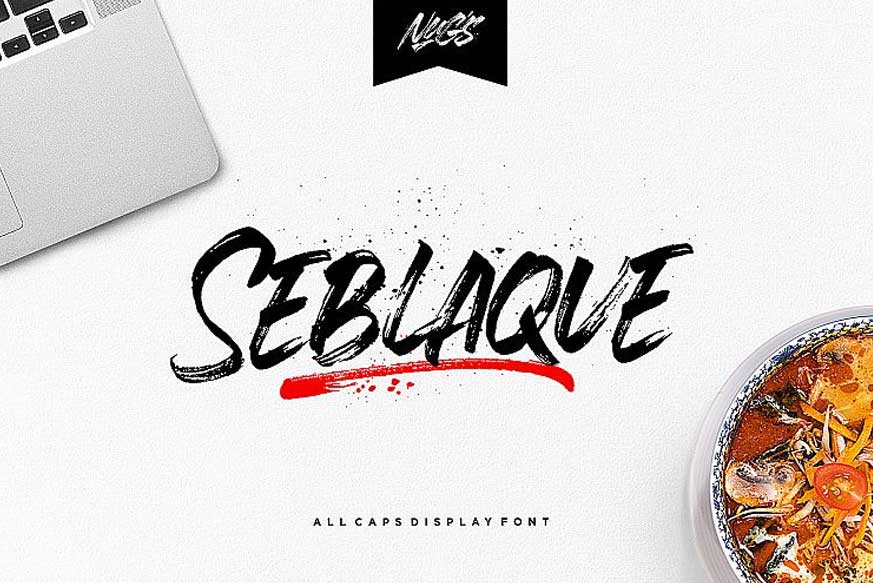 Seblaque Brush Font