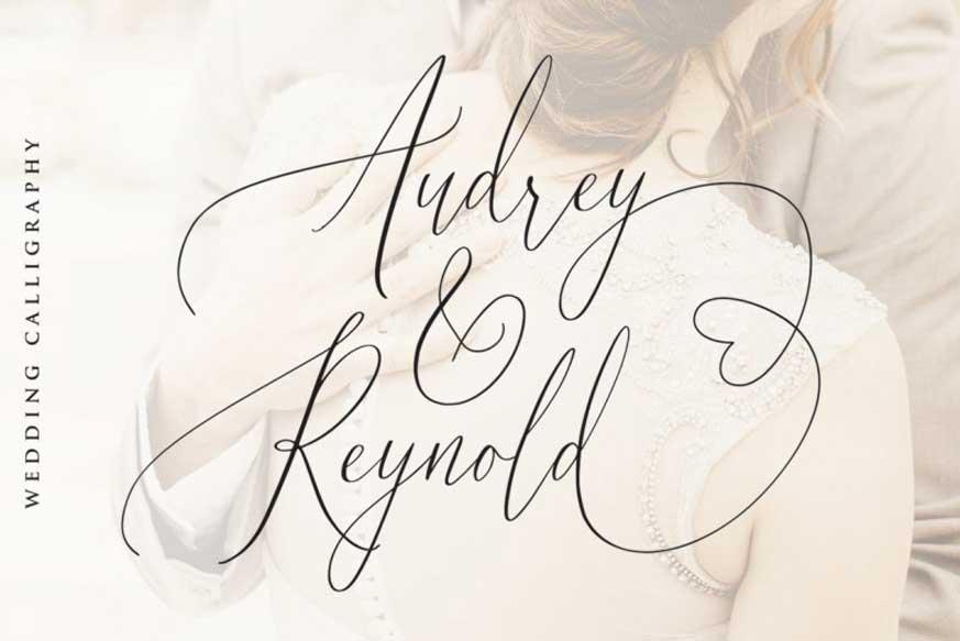 Audrey & Reynold Calligraphy Font