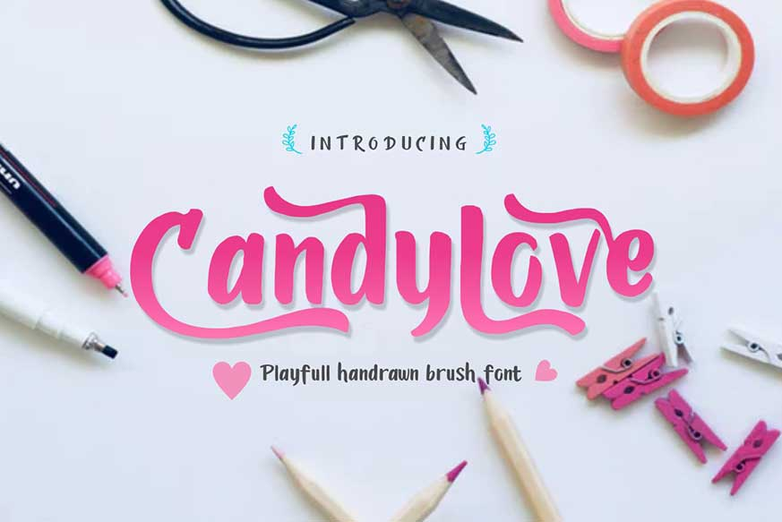 Candylove Playfull Brushwritten Font